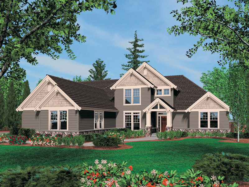 Luxury House Plan Front of Home -  011S-0037 | House Plans and More