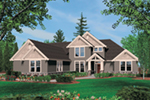 Country French House Plan Front of Home -  011S-0037 | House Plans and More