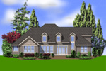 Luxury House Plan Rear Photo 01 -  011S-0037 | House Plans and More