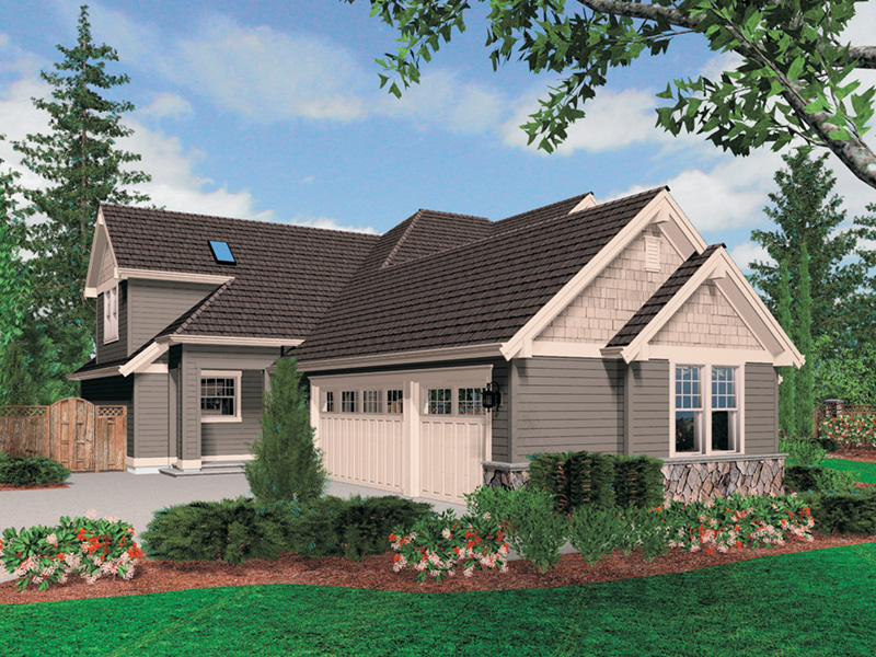Luxury House Plan Side View Photo -  011S-0037 | House Plans and More