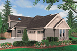 Country French House Plan Side View Photo -  011S-0037 | House Plans and More