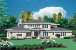 Modern House Plan Front Image - Sidney Manor Luxury Home 011S-0040 | House Plans and More