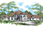 Sunbelt Home Plan Front of Home -  011S-0051 | House Plans and More