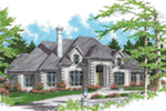 Sunbelt Home Plan Front of Home -  011S-0056 | House Plans and More