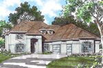 Florida House Plan Front of Home -  011S-0060 | House Plans and More