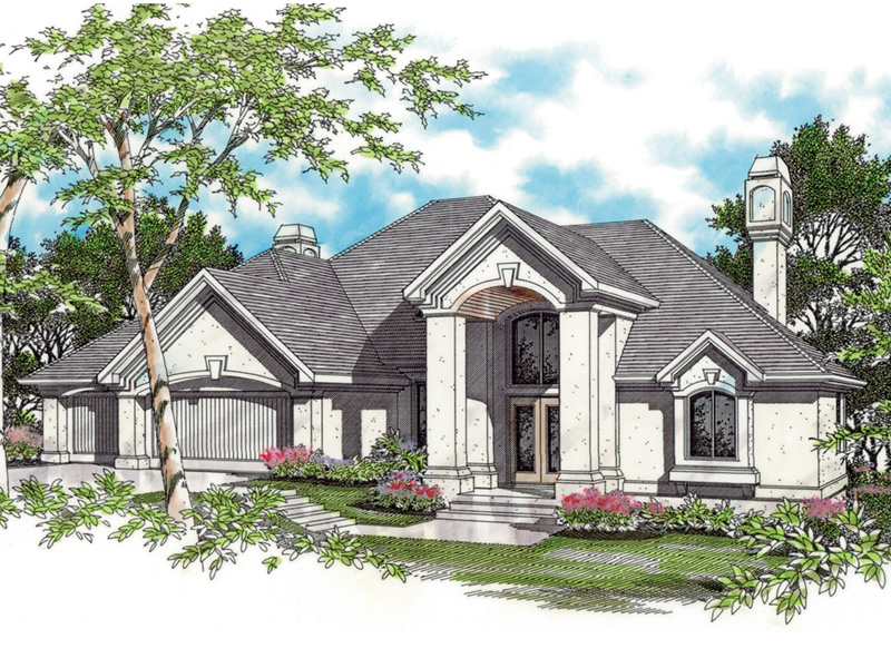 Sunbelt Home Plan Front Image -  011S-0064 | House Plans and More