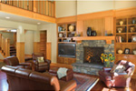 Arts & Crafts House Plan Family Room Photo 01 - Yukon Harbor Vacation Home 011S-0066   House Plans and More