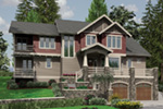 Arts & Crafts House Plan Front Image - Yukon Harbor Vacation Home 011S-0066   House Plans and More