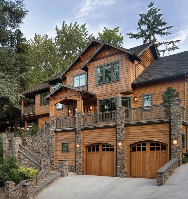 Rustic Cedar Shingled Craftsman Style Luxury Home