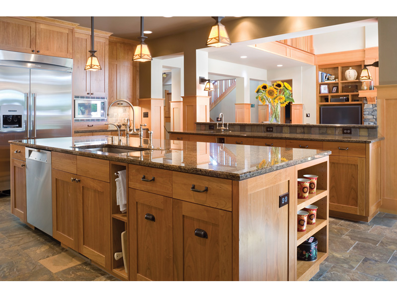Arts & Crafts House Plan Kitchen Photo 02 - Yukon Harbor Vacation Home 011S-0066   House Plans and More