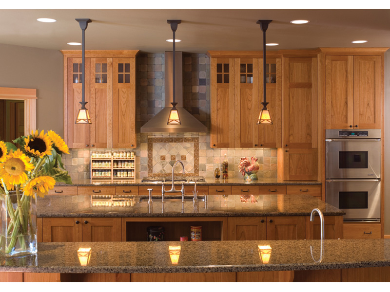 Arts & Crafts House Plan Kitchen Photo 03 - Yukon Harbor Vacation Home 011S-0066   House Plans and More