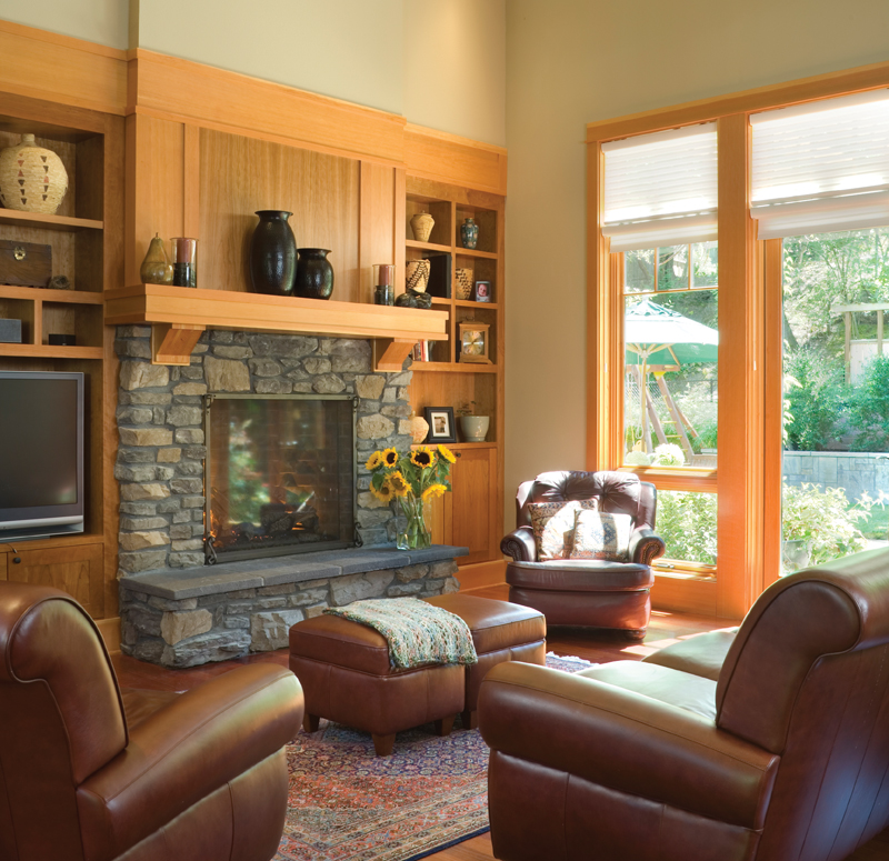 Arts & Crafts House Plan Living Room Photo 02 - Yukon Harbor Vacation Home 011S-0066   House Plans and More