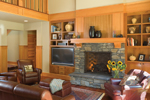 Arts & Crafts House Plan Living Room Photo 03 - Yukon Harbor Vacation Home 011S-0066   House Plans and More