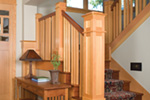 Arts & Crafts House Plan Stairs Photo - Yukon Harbor Vacation Home 011S-0066   House Plans and More