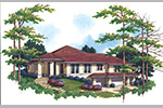 Modern House Plan Front Image -  011S-0068 | House Plans and More