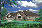Luxury House Plan Front Image -  011S-0069 | House Plans and More