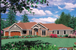 Ranch House Plan Front of Home -  011S-0070 | House Plans and More