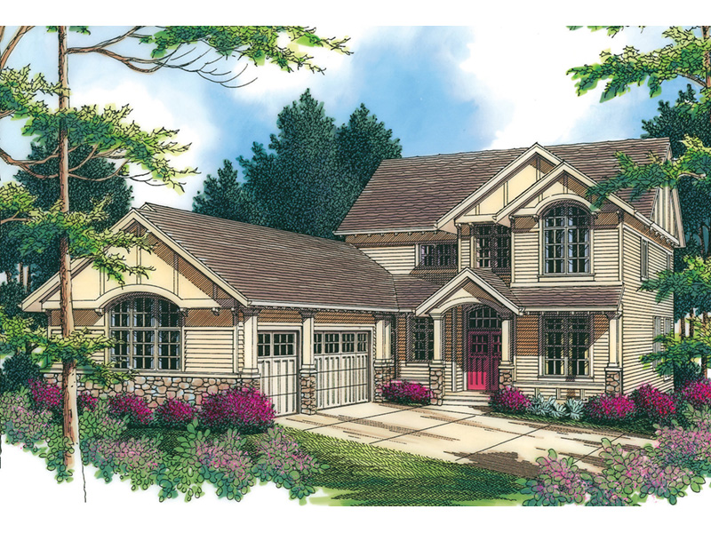Rustic Home Plan Front Image -  011S-0072 | House Plans and More
