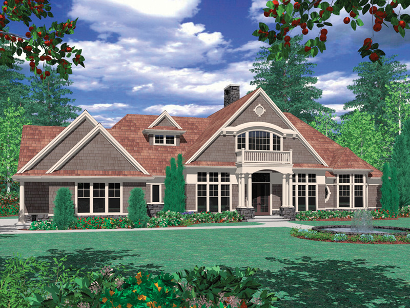 Craftsman House Plan Front Image -  011S-0073 | House Plans and More