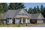 Craftsman House Plan Front of Home -  011S-0073 | House Plans and More