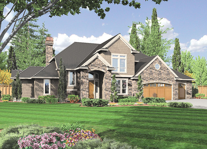 Luxury House Plan Front Image -  011S-0074 | House Plans and More