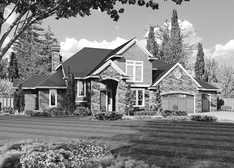 Luxury House Plan Front Image of House -  011S-0074 | House Plans and More