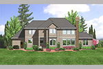 Luxury House Plan Color Image of House -  011S-0074 | House Plans and More