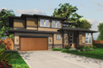 Contemporary House Plan Front Image -  011S-0075 | House Plans and More