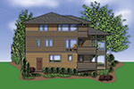 Contemporary House Plan Color Image of House -  011S-0075 | House Plans and More