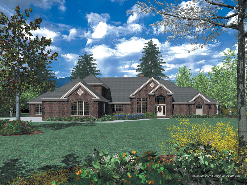 Luxury House Plan Front Image -  011S-0076 | House Plans and More