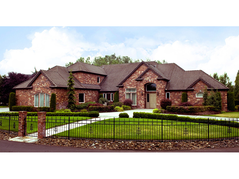 Ranch House Plan Front of Home -  011S-0076 | House Plans and More