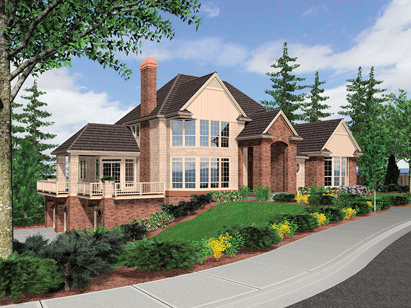 Luxury House Plan Front Image -  011S-0078 | House Plans and More