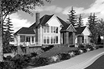 Luxury House Plan Front Image of House -  011S-0078 | House Plans and More