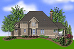 Luxury House Plan Color Image of House -  011S-0078 | House Plans and More