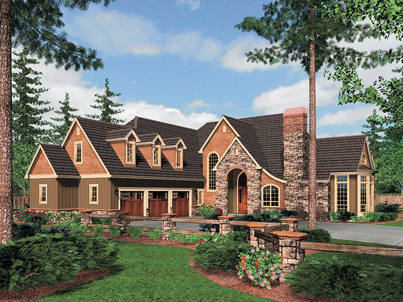 Country French House Plan Front Image -  011S-0080 | House Plans and More