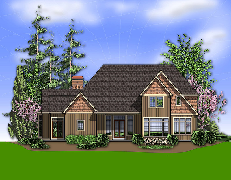 Country French House Plan Color Image of House -  011S-0080 | House Plans and More