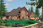 Country House Plan Front Image -  011S-0081   House Plans and More