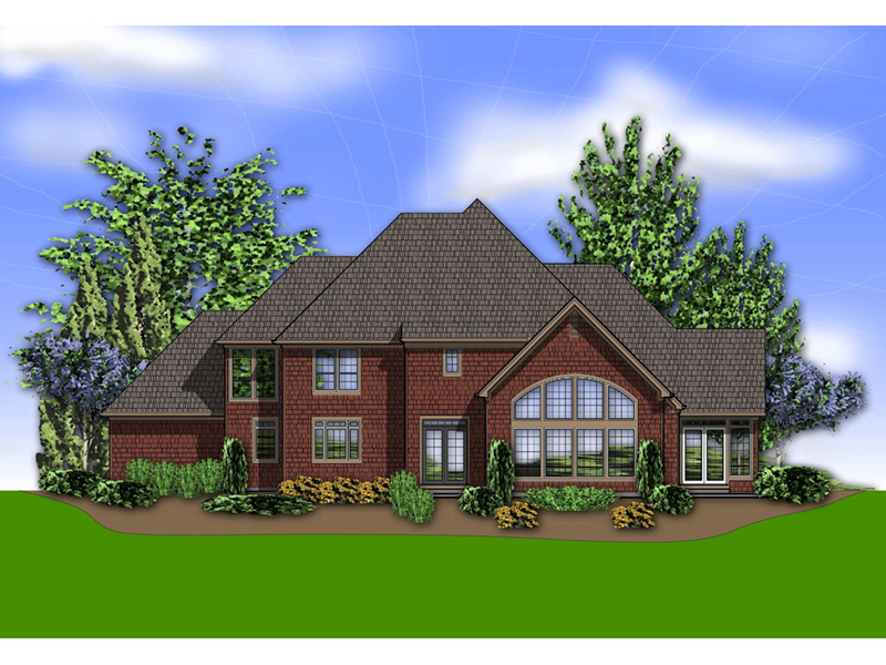 Country House Plan Color Image of House -  011S-0081   House Plans and More