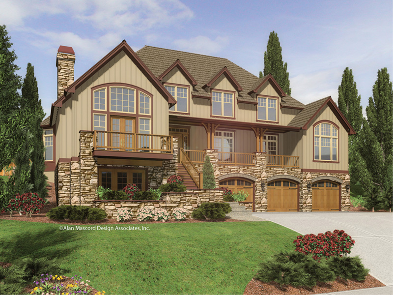 Vacation House Plan Front Image - 011S-0083 | House Plans and More