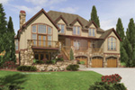 Luxury House Plan Front Image - 011S-0083 | House Plans and More