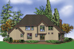 Luxury House Plan Color Image of House - 011S-0083 | House Plans and More