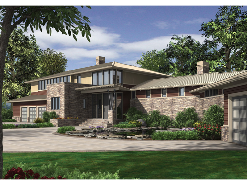 Rustic Home Plan Front Image - Demarco Luxury Prairie Home 011S-0085 | House Plans and More