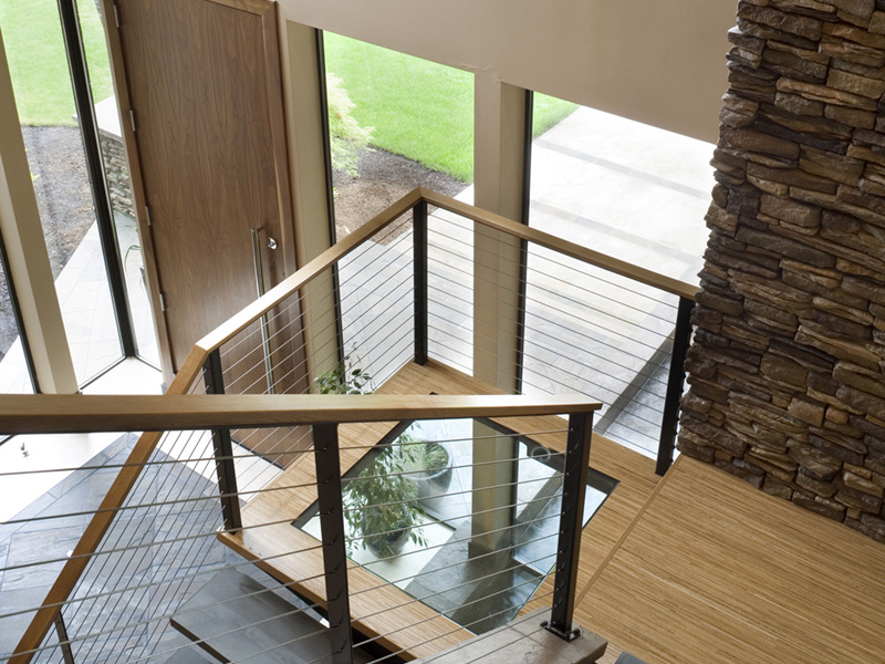 Rustic Home Plan Stairs Photo 03 - Demarco Luxury Prairie Home 011S-0085 | House Plans and More