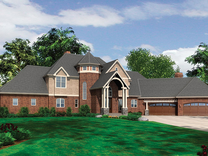 Luxury House Plan Front of Home - 011S-0086 | House Plans and More