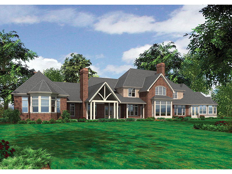 Luxury House Plan Color Image of House - 011S-0086 | House Plans and More
