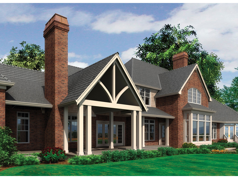Luxury House Plan Rear Photo 01 - 011S-0086 | House Plans and More