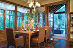 Lake House Plan Dining Room Photo 01 - Patterson Luxury Craftsman Home 011S-0087 | House Plans and More