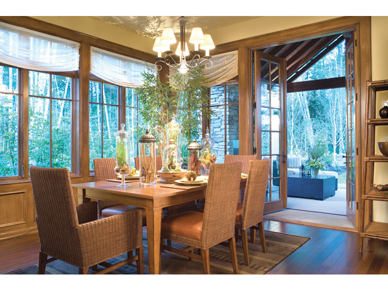 Lake House Plan Dining Room Photo 02 - Patterson Luxury Craftsman Home 011S-0087 | House Plans and More
