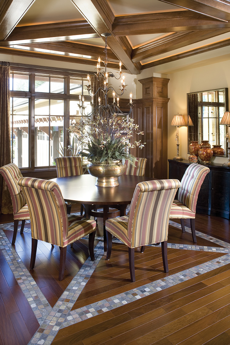Lake House Plan Dining Room Photo 03 - Patterson Luxury Craftsman Home 011S-0087 | House Plans and More