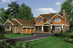 Lake House Plan Front of Home - Patterson Luxury Craftsman Home 011S-0087 | House Plans and More
